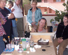 Egg tempera workshop with Koo Schadler.